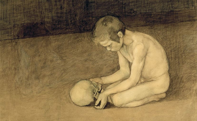 Magnus_Enckell_-_Boy_with_Skull_-_Google_Art_Project