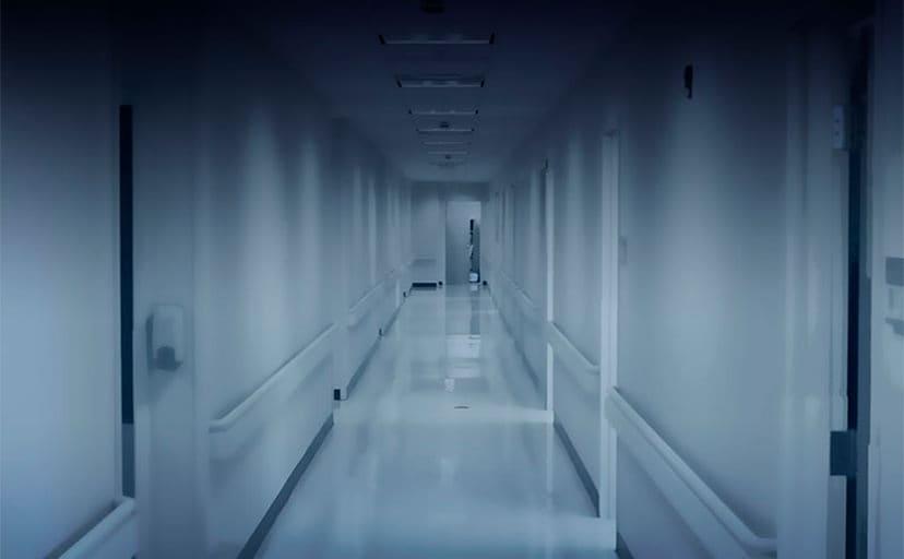 病院の廊下(フリー素材)