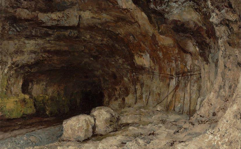 洞穴(フリー素材)