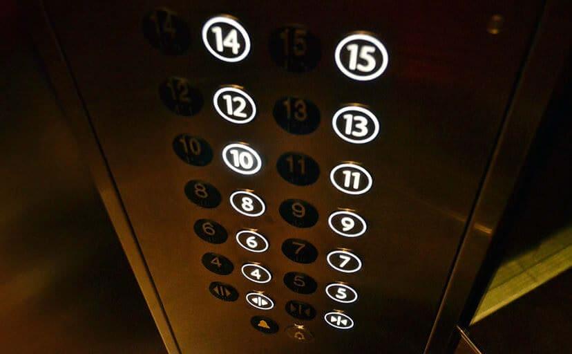 エレベーターのボタン(フリー写真)