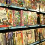 大量のゲームソフト