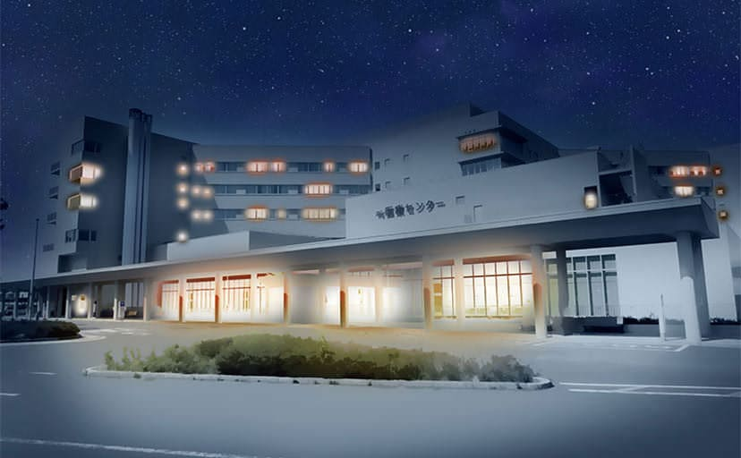 病院(フリー背景素材)