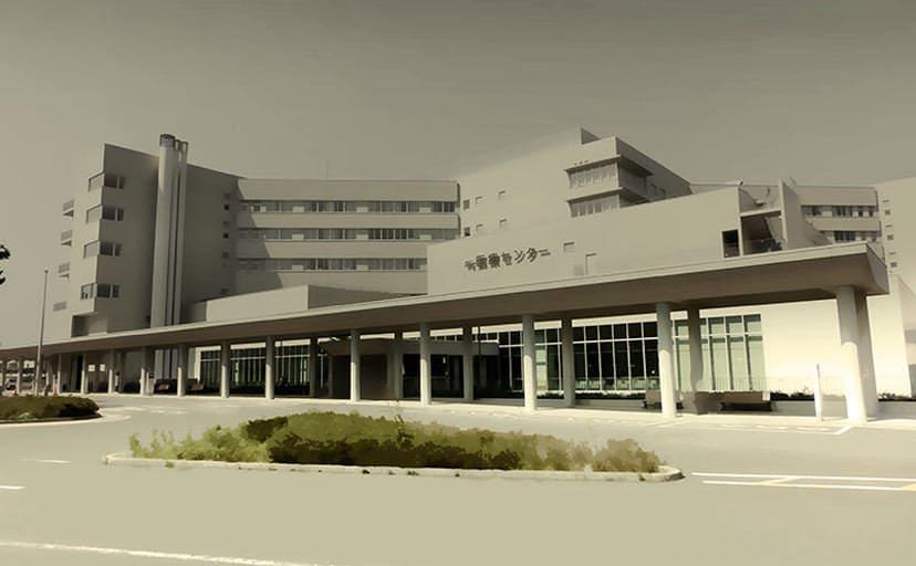 病院(無料背景素材)