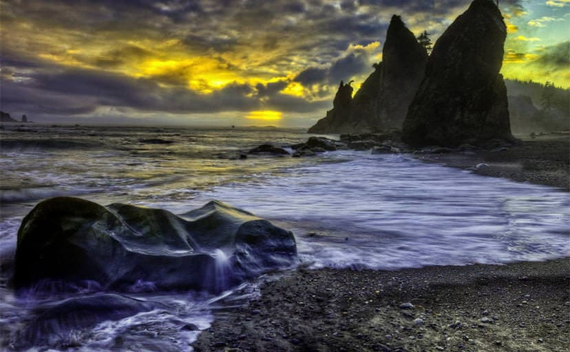 huge-boulders-on-a-beach-at-sunset-hdr-wallpaper-536c50fb80611