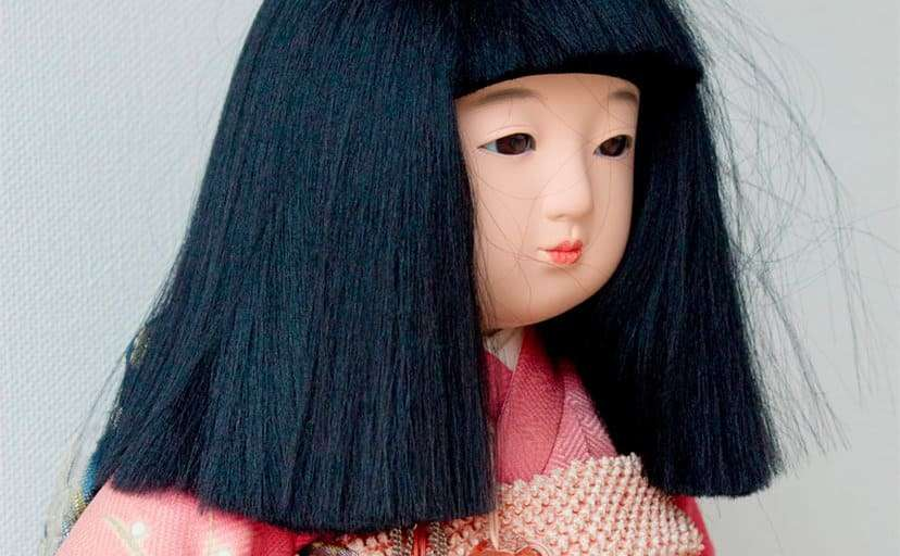 市松人形(フリー写真)