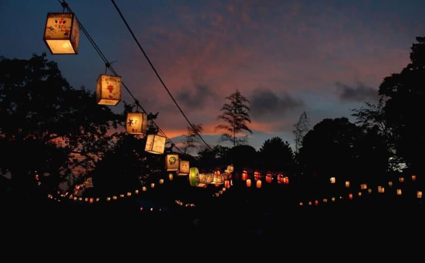 田舎の夜(フリー写真)