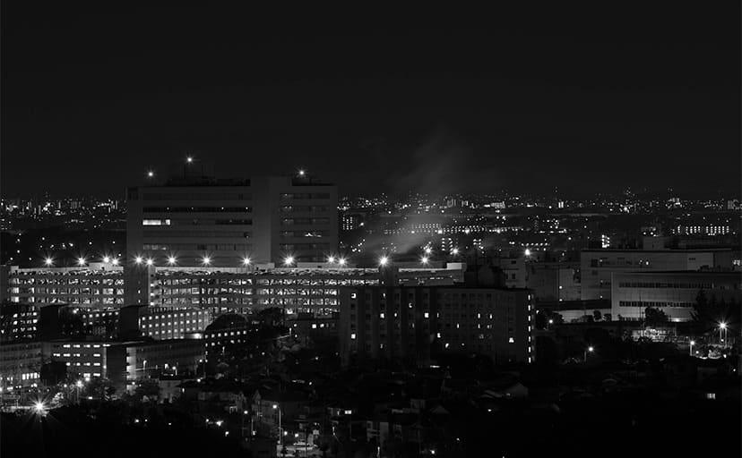 夜の住宅街(フリー素材)