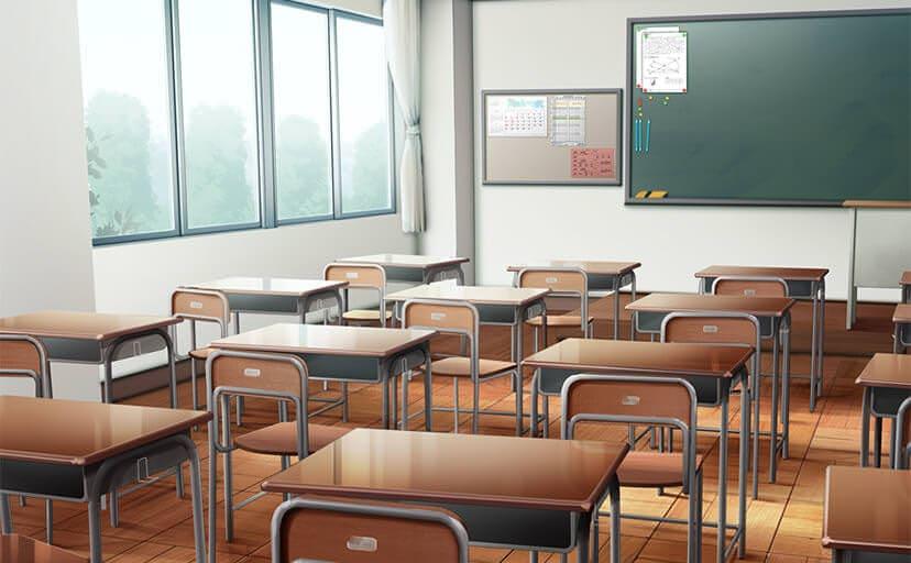 教室(フリーイラスト素材)