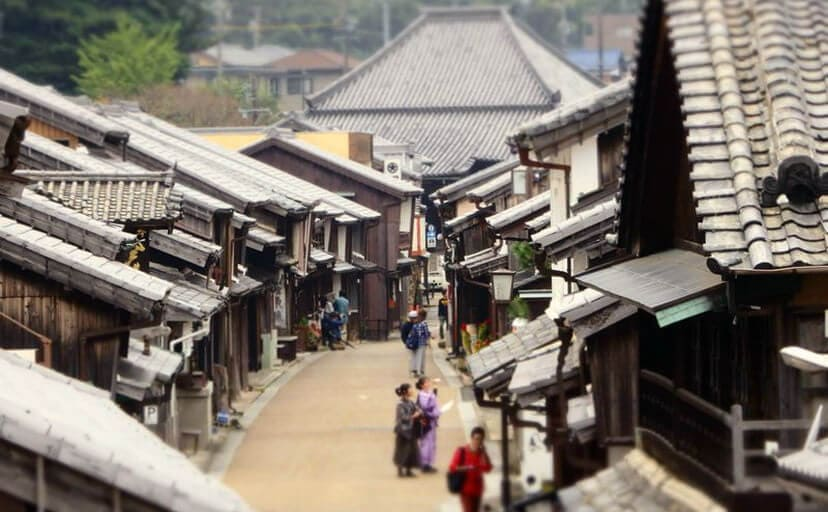 旧東海道・関宿の町並み(フリー写真)
