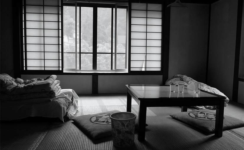 民宿の一室(フリー写真)
