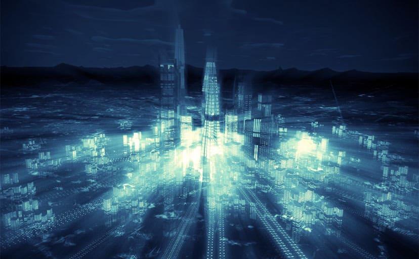 未来都市(フリー素材)