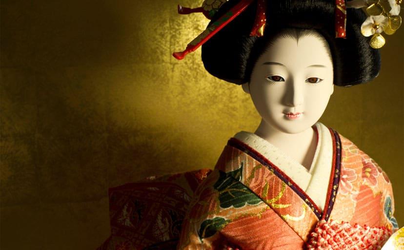 日本人形(フリー画像)
