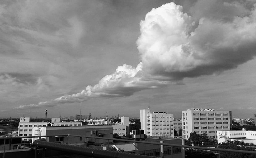 屋上(フリー写真)