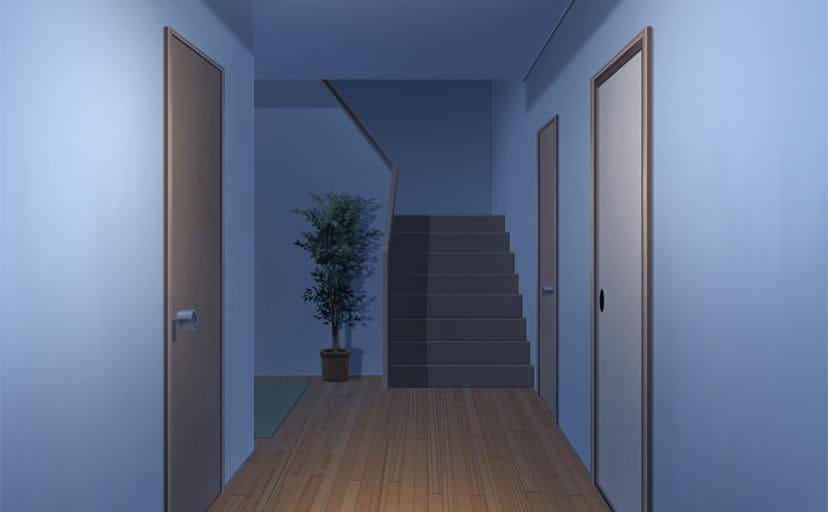 廊下(フリー背景素材)