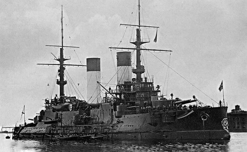 ロシアの軍艦(フリー素材)