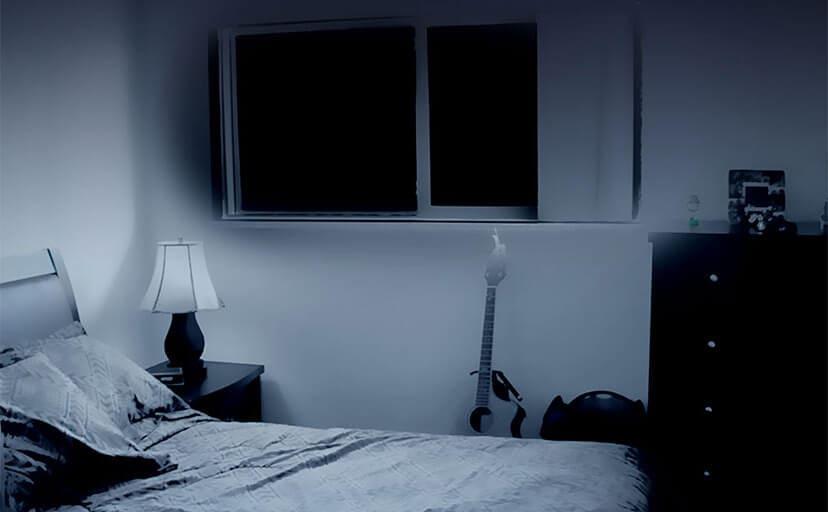 寝室(フリー背景素材)