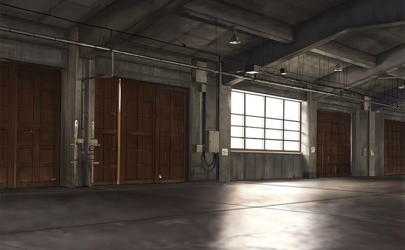倉庫(フリー背景素材)