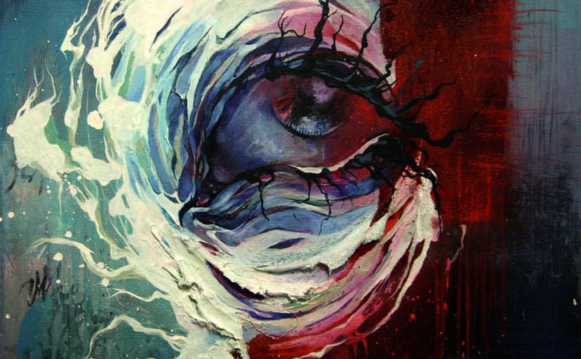 this-sad-eye-seems-to-have-roots-for-eyelashes-in-this-abstract-painting-by-shann-larsson