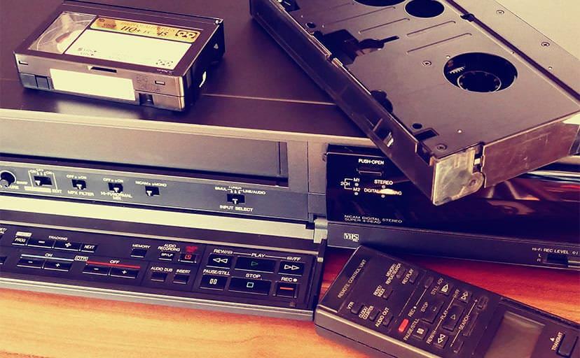 ビデオテープ(フリー画像)
