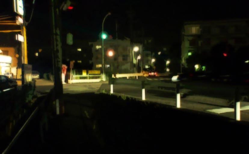 夜道(フリー背景素材)