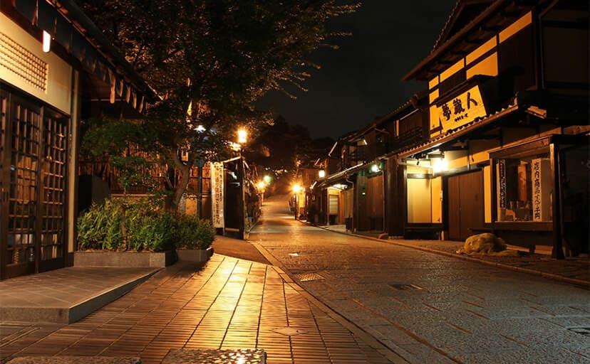 夜の町並み(フリー写真)