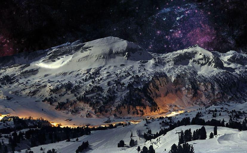 雪景色(フリー素材)