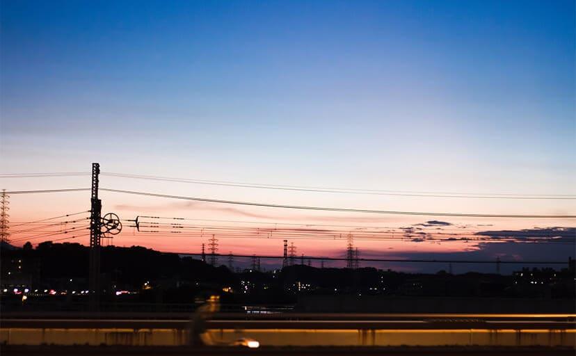夕日(フリー写真)